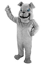 Grey Bulldog Mascot
