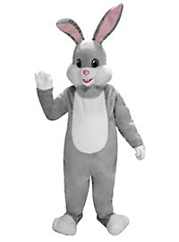 Grey Rabbit Mascot