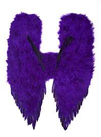 Große lila Dämonenflügel Federn