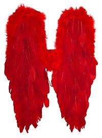 Große rote Flügel Federn