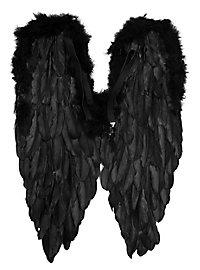 Große schwarze Flügel Federn