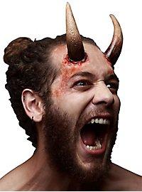 Große Teufelshörner Latexapplikation