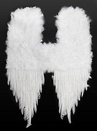 Große weiße Dämonenflügel Federn