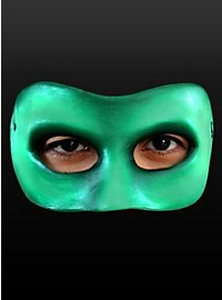 Grüne Halbmaske aus Latex