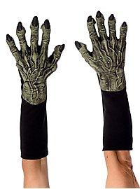Grüne Hexenhände Handschuhe