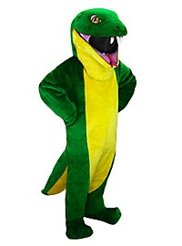 Grüne Schlange Maskottchen