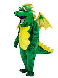 Grüner Drache Maskottchen