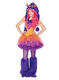Grummel-Monster lila-pink Kostüm für Jugendliche