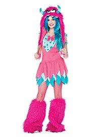Grummel-Monster pink-türkis Kostüm für Jugendliche