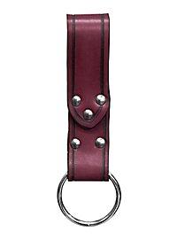 Gürtelschlaufe mit Ring, rot
