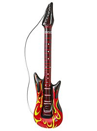 Guitare flammes gonflable
