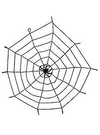 Gummi-Spinnweben