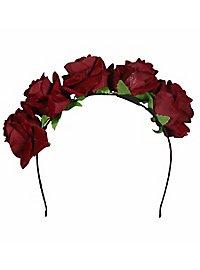 Haarreif mit Rosen rot