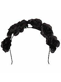 Haarreif mit Rosen schwarz