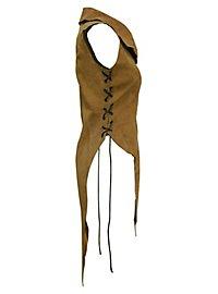 Habit en cuir noir d'elfe de la forêt