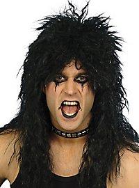 Hair Metal Perücke schwarz