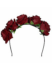 Hairband with roses red