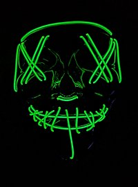 Halloween LED Mask green