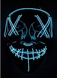 Halloween LED Mask neon blue