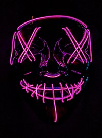 Halloween LED Mask pink