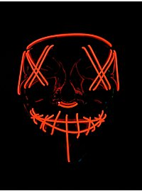Halloween LED Mask red