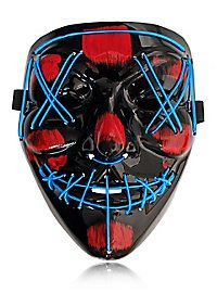 Halloween LED Maske blau