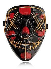 Halloween LED Maske gelb