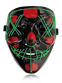 Halloween LED Maske grün