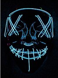 Halloween LED Maske neon-blau
