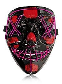 Halloween LED Maske pink