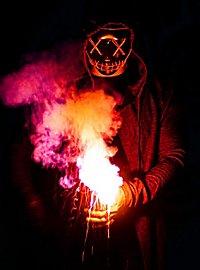 Halloween LED Maske rot