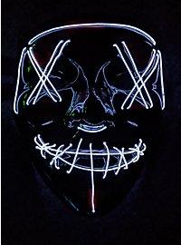 Halloween LED Maske weiß