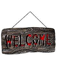 """Halloween Leuchtschild """"Welcome"""""""