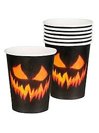 Halloween Pappbecher 6 Stück