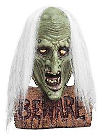 Halloween Schild mit Hexenkopf