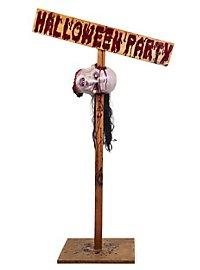 Halloweenparty Warnschild