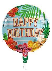 Happy Birthday Folienballon Hawaii