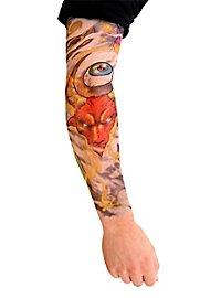 Hard Rocker Manches de peau tatouée