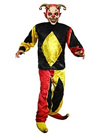 Harlequin Horror Clown Costume with Mask