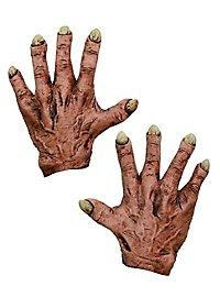 Hautfarbene Monsterhände aus Latex