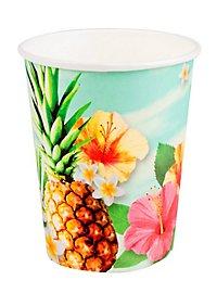 Hawaii Pappbecher 6 Stück
