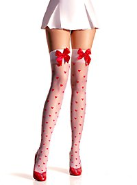 Heart Stockings with red Bow