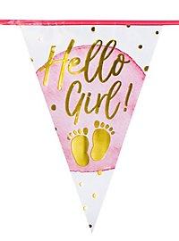 Hello Girl! Wimpelkette 6 Meter
