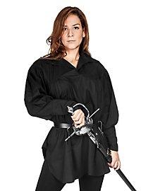 Mittelalter Hemd - Bernadette schwarz