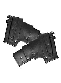 Leather pauldrons - Hero black