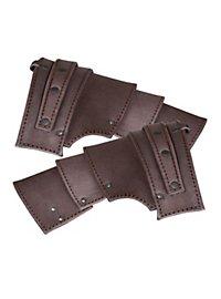 Leather pauldrons - Hero brown