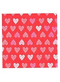 Herz Servietten 12 Stück