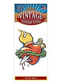 Herz Vintage Klebe-Tattoo