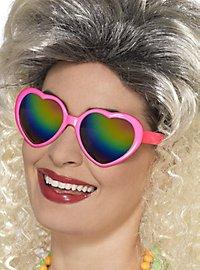 Herzchen Sonnenbrille pink
