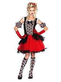 Herzdame Kostüm für Jugendliche